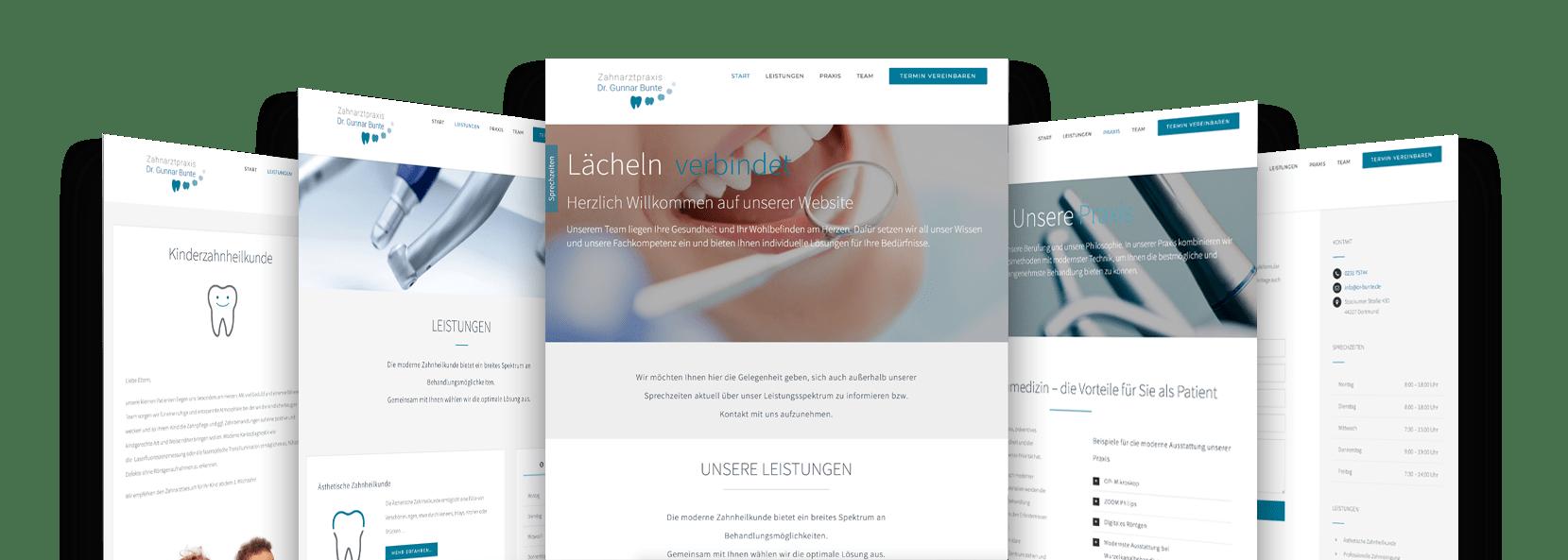 Responsive Website und Webdesign ZahnarztpraxisDr. Bunte