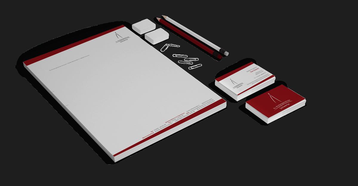 Corporate Design mit Briefpapier, Visitenkarte als Geschäftsausstattung für die Evangelische Kirchengemeinde Schwerte