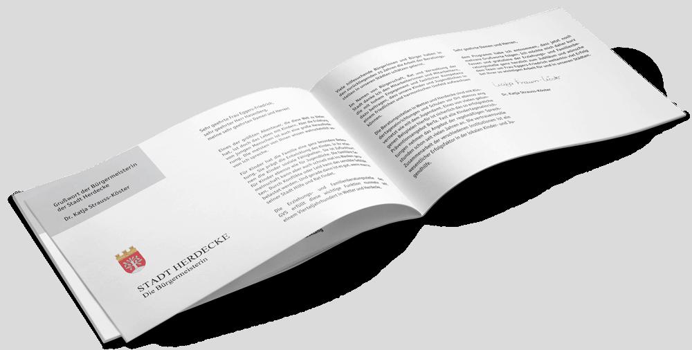 Festschrift, Broschüre, Magazin zum Jubiläum der Erziehungs- und Familienberatungsstelle des GVS Herdecke