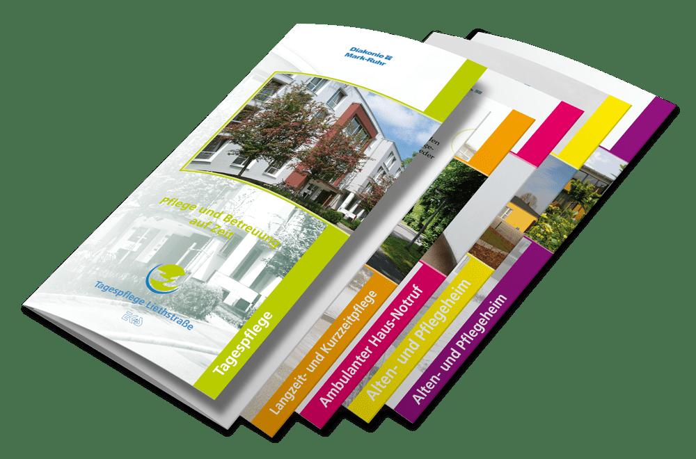 Flyer und Printmedien DMR Altenbetreuung