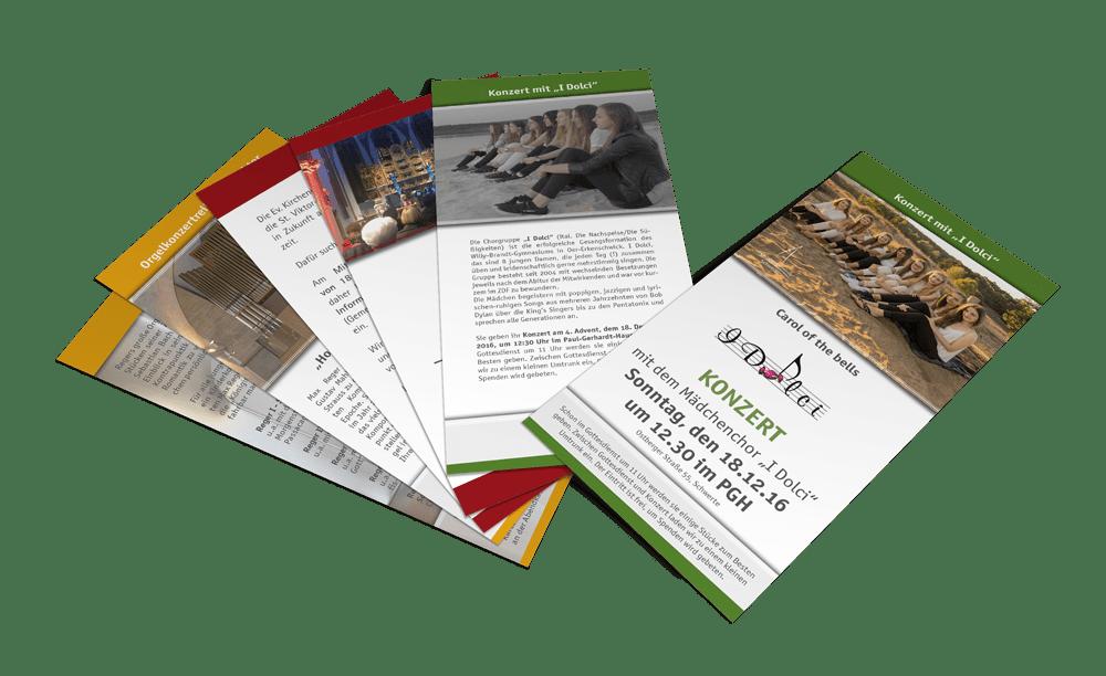 Flyer als Printmedien für die Evangelische Kirchengemeinde Schwerte
