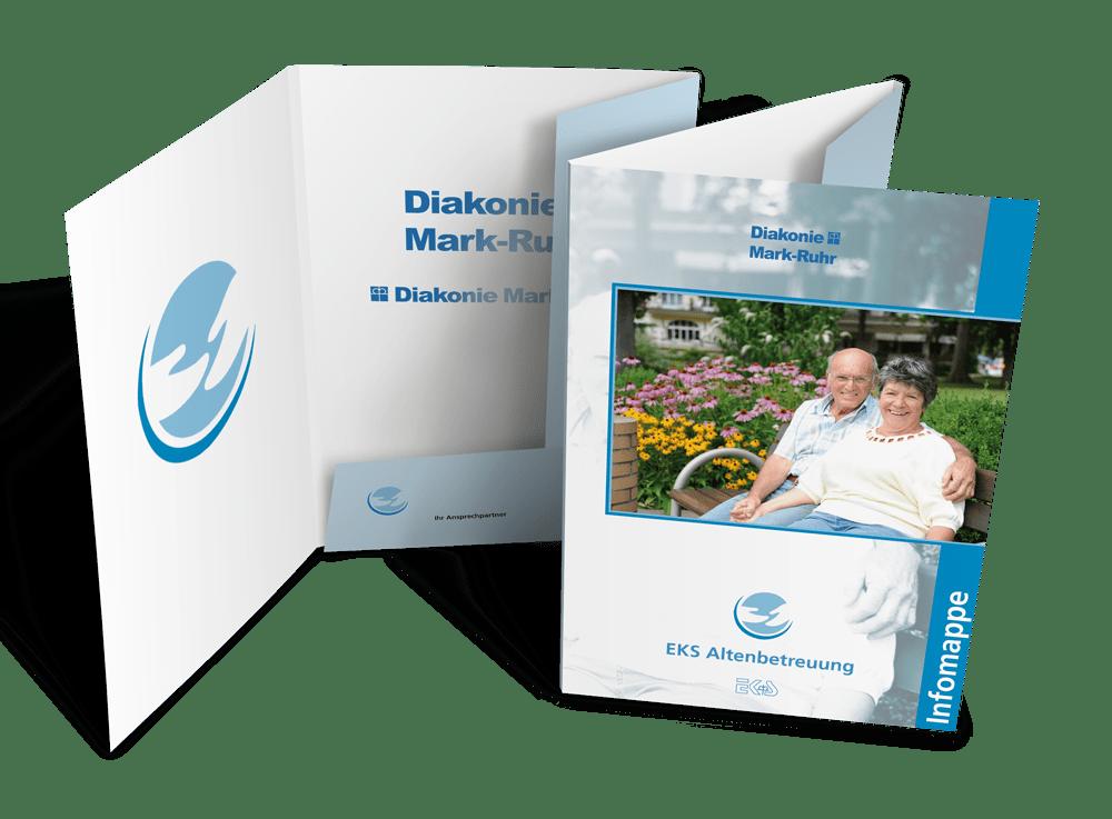 Infomappe und Printmedien EKS Altenbetreuung