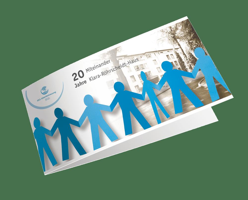 Karte und Print 20 Jahre Klara-Röhrscheidt-Haus
