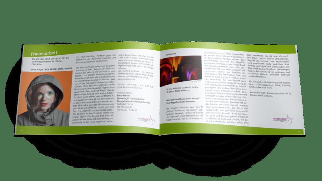 Veranstaltungsankündigung in der Broschüre, Magazin, Print Kirchenzeitung Evangelische Kirchengemeinde Schwerte