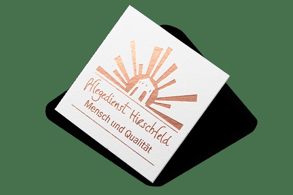 Logoenwticklung Pflegedienst Hirschfeld