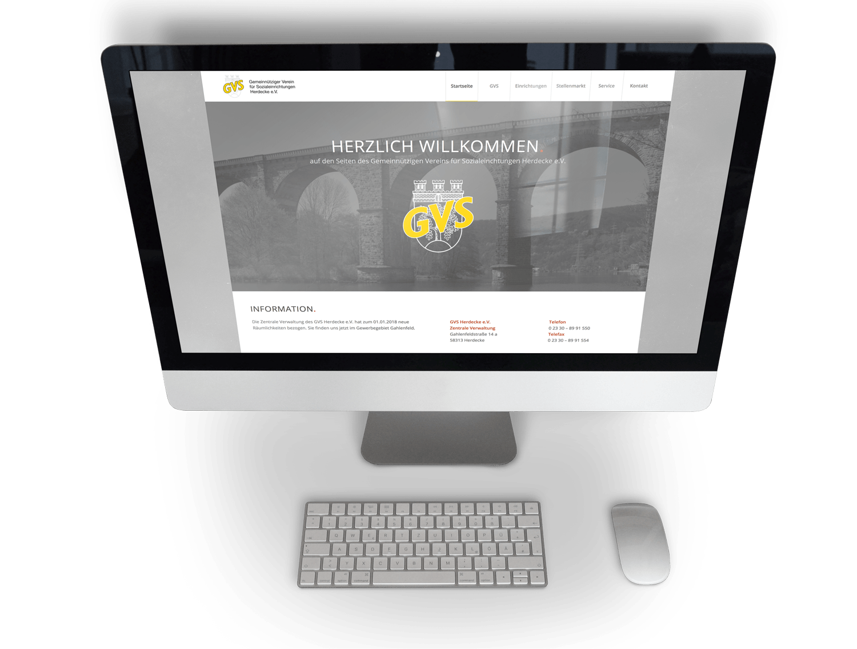 Responsive Website des GVS Herdecke e.V.