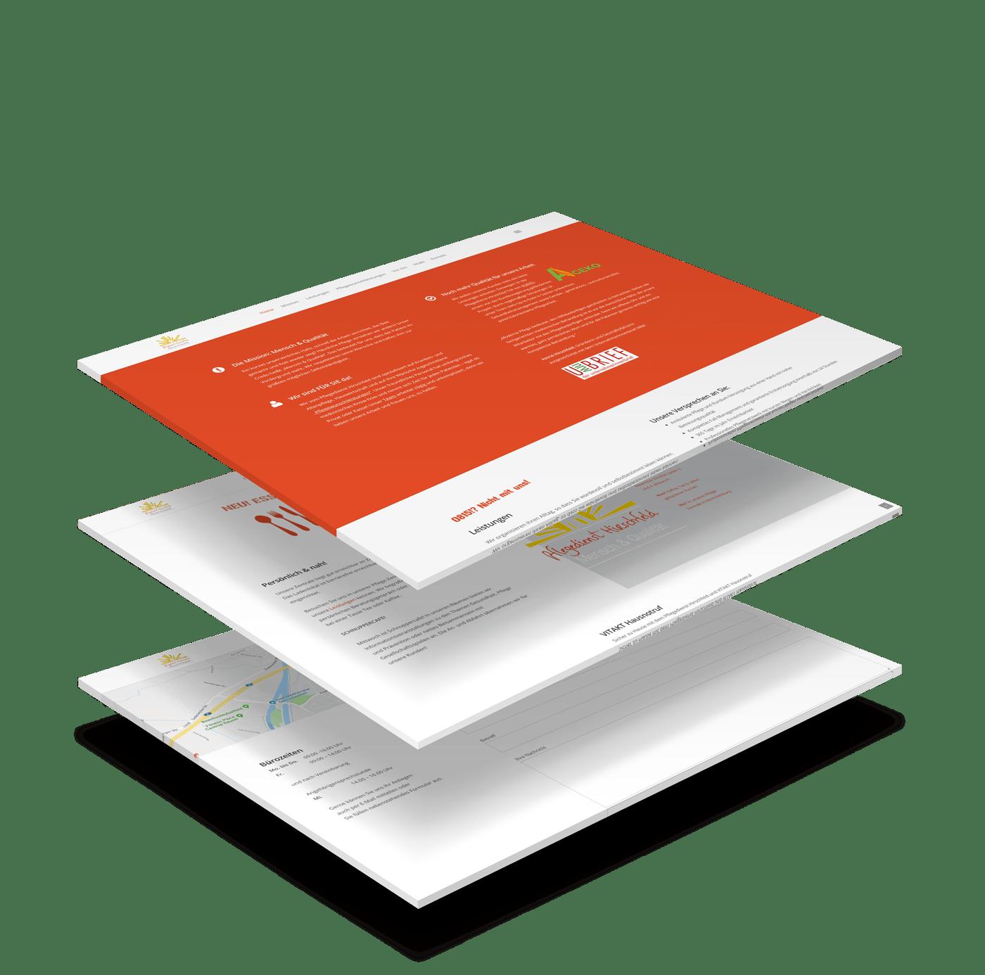 Responsive Website Webdesign Pflegedienst Hirschfeld