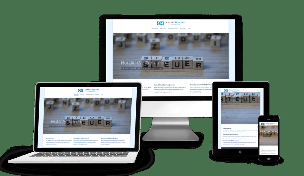Responsive Webseite und Webdesign für Kanzlei Horstick