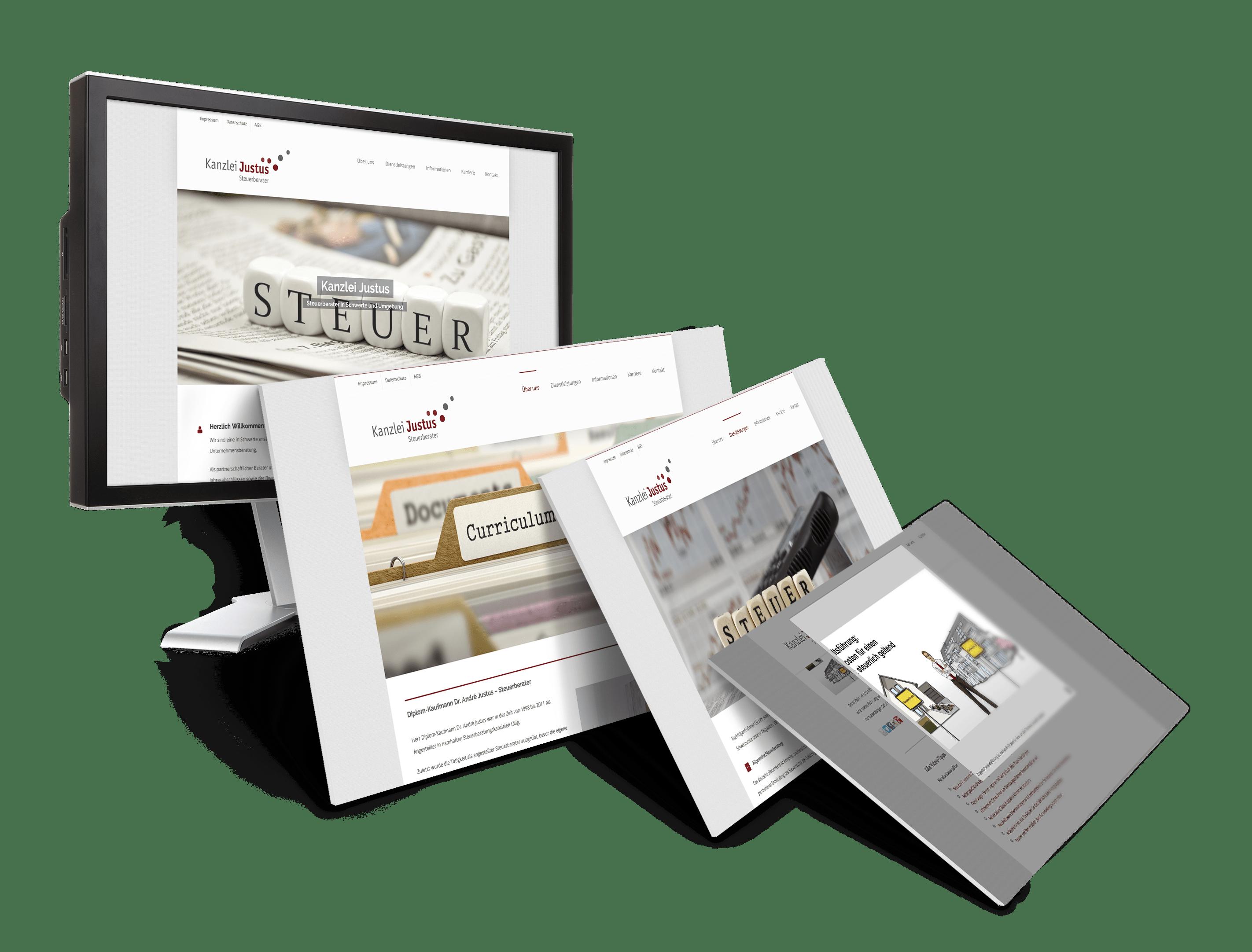 Responsive Webseite und Webdesign Kanzlei Justus